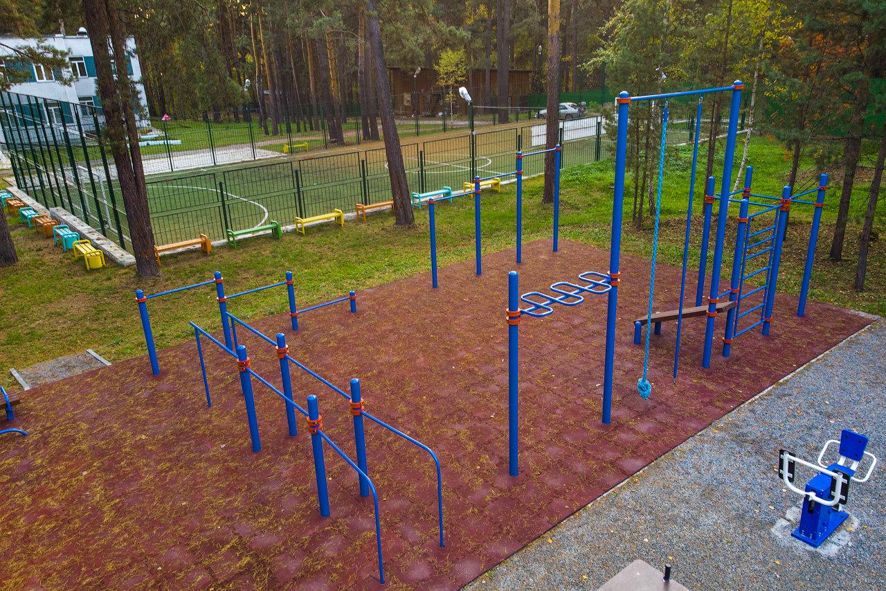 Центр детского и семейного отдыха им.О.Кошевого. Спортивная площадка.