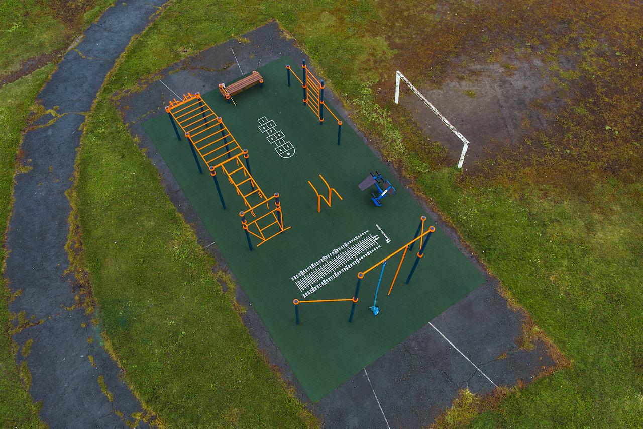 Куйбышев. Школа №5. Спортивная площадка.