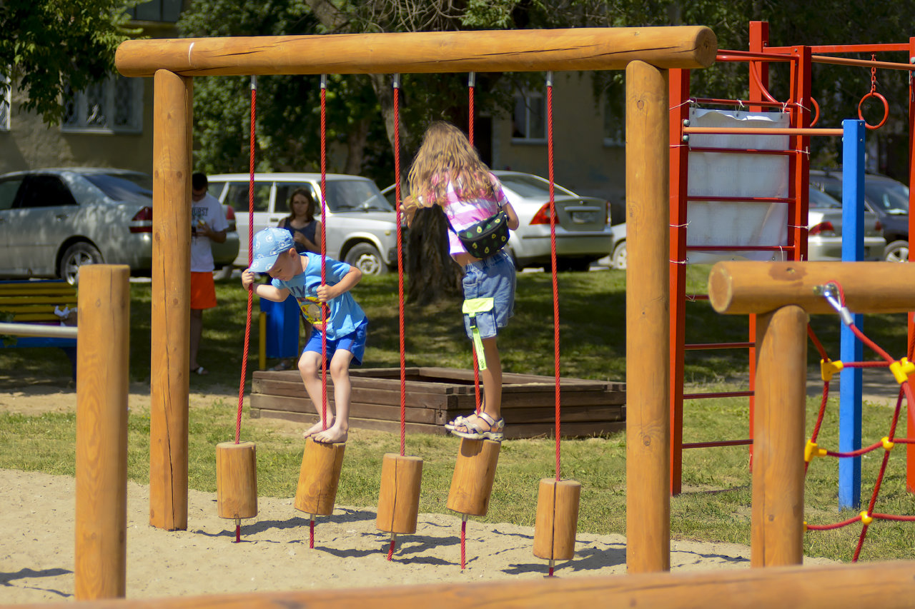 Детская деревянная игровая площадка в г. Искитим