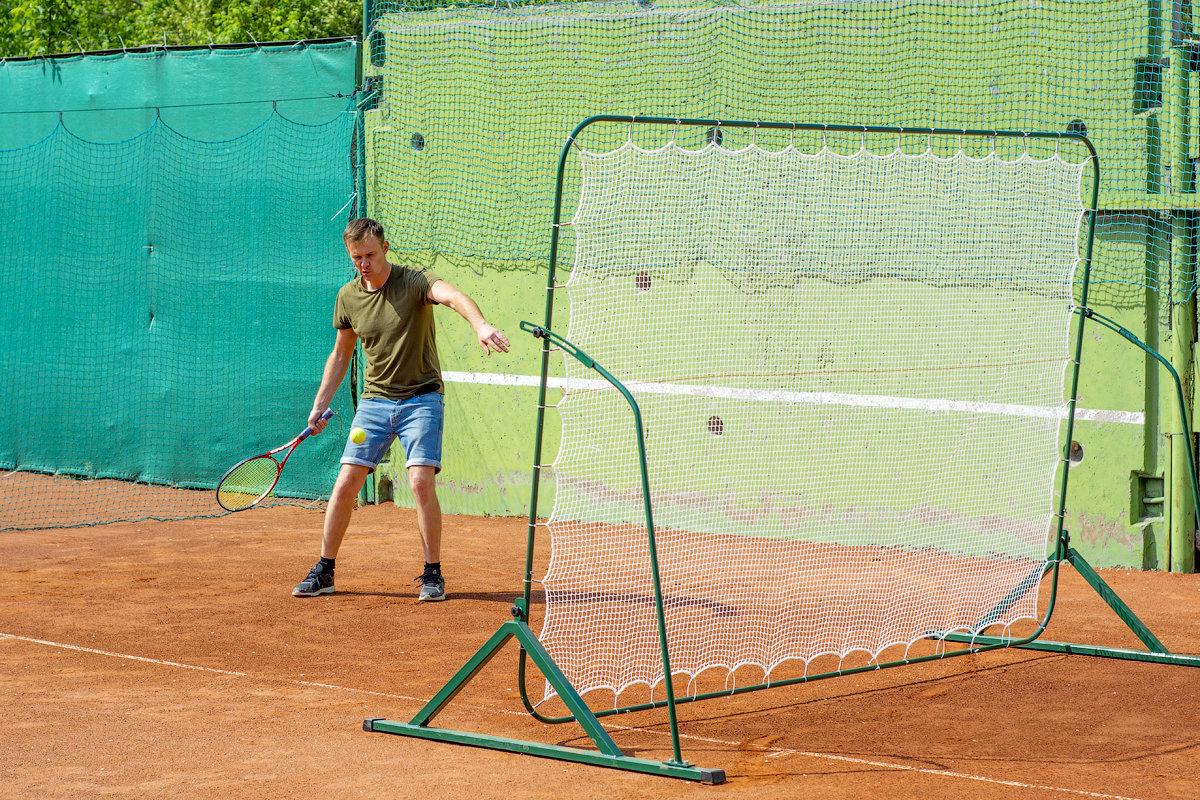 Тренировочная стенка-сетка для большого тенниса