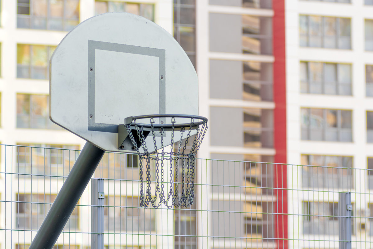 Стойка стритбольная с выносом 1,2 метра