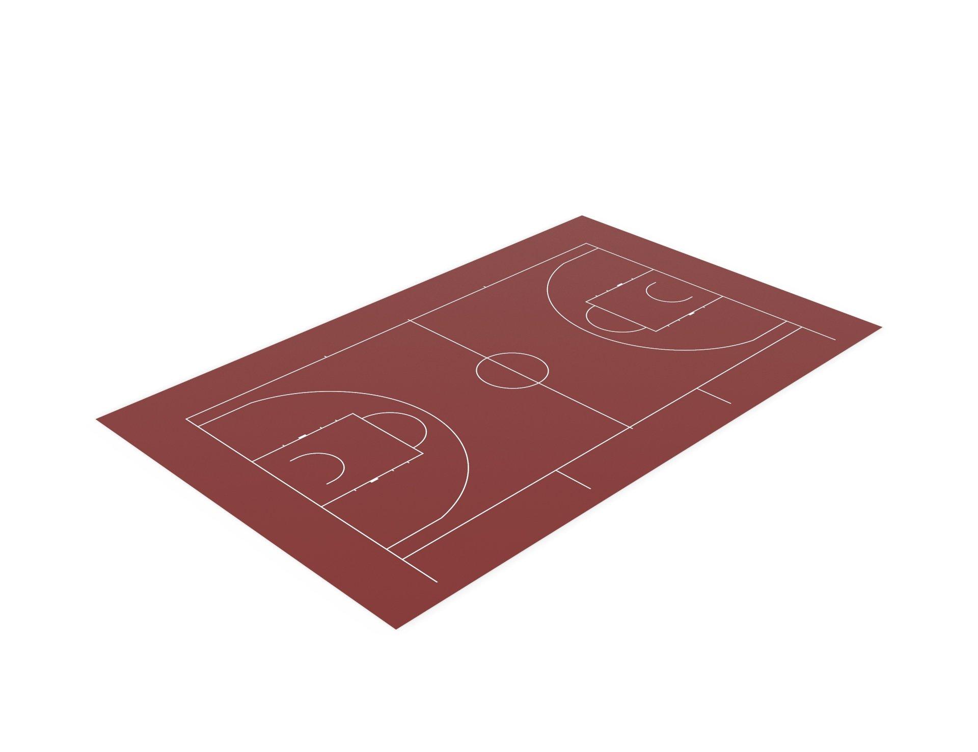 Разметка спортивных площадок. Разметка баскетбольной площадки.